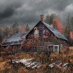 5747old-house-autumn-forest-1080P-wallpaper